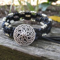 Wicked Cool Black Macramé Bracelet