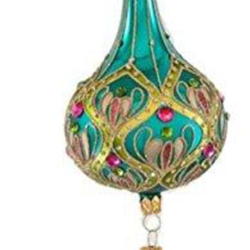 "Katherine's Collection Colorful Bohemian 10""L Decor Dangle Ball Ornament"