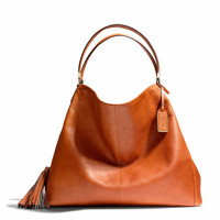 madison large phoebe shoulder bag in buffalo embossed leather
