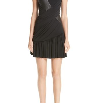 Alexander Wang Leather Detail Jersey Dress | Nordstrom