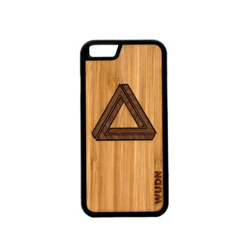 Slim Wooden Phone Case | Custom Geometric Triangle Inlay