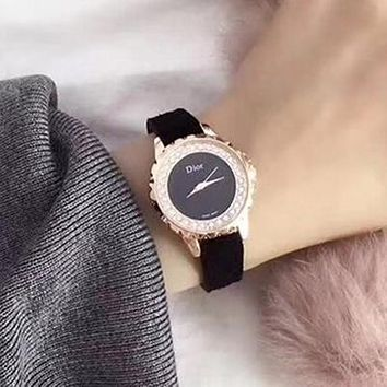 Dior Women Fashion Quartz Movement Wristwatch Watch