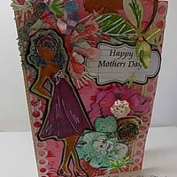 Happy Mother's Day Handmade Card. Ready to Ship.