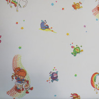 Rainbow Brite Vintage Starbrite Wallpaper 1980s Wallpaper 1980s Decor Girls Room Unicorn Decor Girl Wall Mural