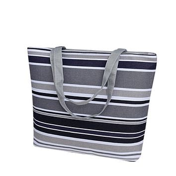Women Handbag Girls Printing Canvas Shopping Bag Stripes Fashion Shoulder Tote Bag Bolsas Feminina #9403