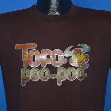 70s Toro Poo Poo Bull Crap Glitter Iron On Funny t-shirt Medium