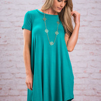 Frequent Flyer Dress, Jade