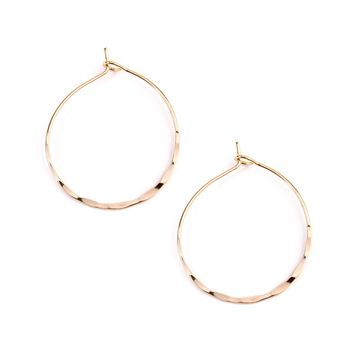 Twisted Hammered Hoop Earrings