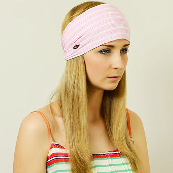 Hair Scarf Stretchy Headband Headwrap Free People Headscarf Hair Wrap Hair Band Headband Woman Hairband Striped Pink