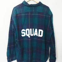 Squad Flannel - Teal