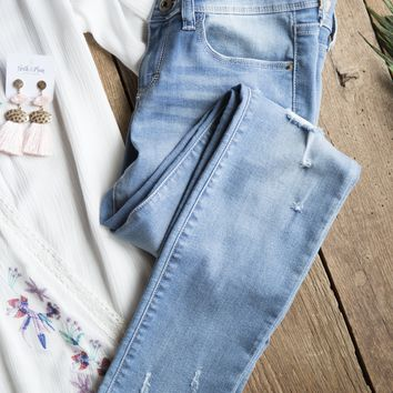 Coin Low Rise Jeans, Light