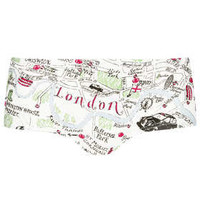 London Map Print Cheeky Pant