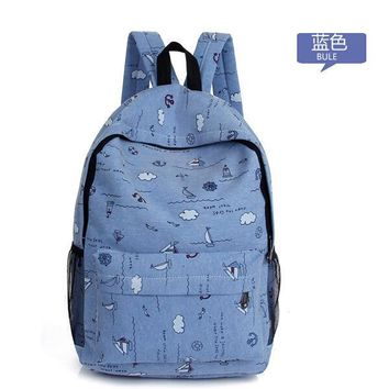 Student Backpack Children 2018 Canvas Backpack Girl Korean Hip Schoolgirl Backpack Middle School Students Backpack AT_49_3