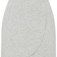 Double Curve Wrap-Over Skirt - Grey Marl