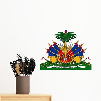 Haiti National Emblem Removable Wall Sticker Art Decals