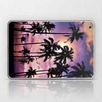 Smell the Sea Feel the Sky (Palm Tree Sunset) Laptop & iPad Skin by Soaring Anchor Designs