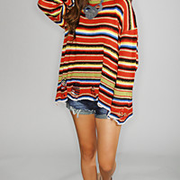 wildfox: mexican blanket lenon sweater