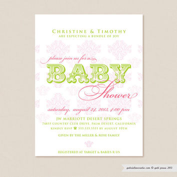 Vintage - Printable Invitation