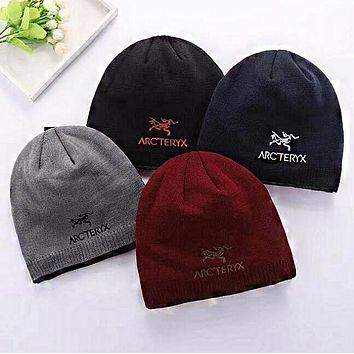 """Arcteryx"" Fashionable Women Men Warm Embroidery Knit Hat Cap"