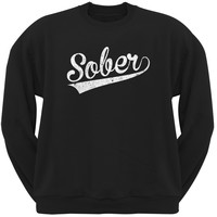 St. Patricks Day - Sober Black Adult Sweatshirt