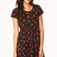 Romantic Rose Fit & Flare Dress