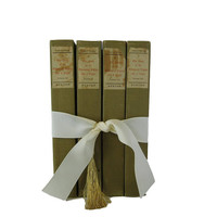 Green Tan  Book Gift Set, Decorative Books ,  Gifts for Teachers, Gifts for the Home, Gifts Under 30, Hostess Gifts