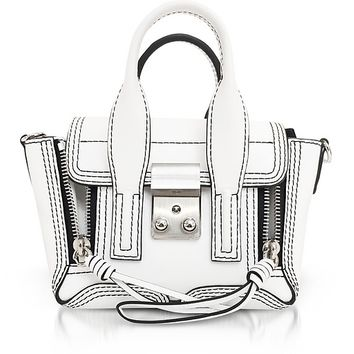 3.1 Phillip Lim Optic White Leather Pashli Nano Satchel
