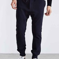 Vanishing Elephant Contrast Ribbed Track Pant- Navy