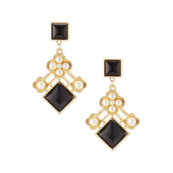 Pearly Cluster Drop Earrings - Jules Smith