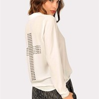 Don't Cross Me Blouse - White at Necessary Clothing
