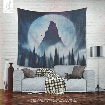 Find your mountain - Wall tapestry - Tapestry - Wall hangings - Wanderlust tapestry - Nature - Mountain - Forest tapestry - Wall decor.