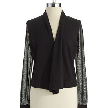 Vince Camuto Petite Open Front Cardigan