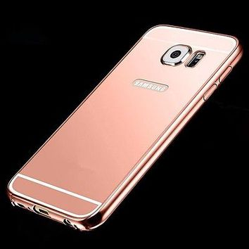 Luxury Aluminum Ultra-thin Mirror Metal Case Cover For Samsung Galaxy S6 / Edge