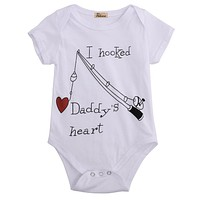 I Hooked Daddy's Heart Onesuit