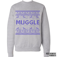 Harry Potter Clothing. Muggle Sweatshirt. Merry Christmas Ya. Ugly Christmas Shirt. S-3XL