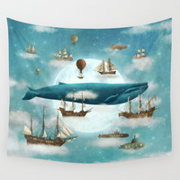 Ocean Meets Sky - revised Wall Tapestry by igo2cairo