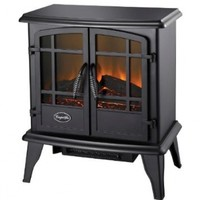 Comfort Glow, ES5130 Keystone Electric Stove with Thermostat, Black Finish