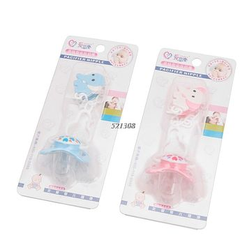 Infant Baby Silicone Emulation Breastfeeding Baby Chain Stitching Pacifier