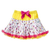 Hello Kitty Infant Toddler Girls' Print Skirt - Yellow