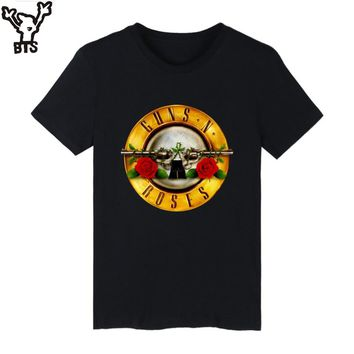 Guns N Roses Rock Band Short Sleeve T-shirt Men Hip Hop TShirts