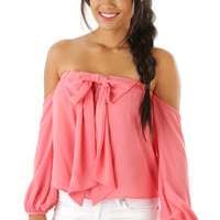 A Bow For Her Top: Pink | Hope's
