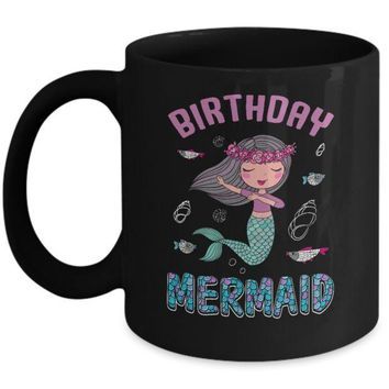 DCKIJ3 Birthday Mermaid Party Dabbing Mug
