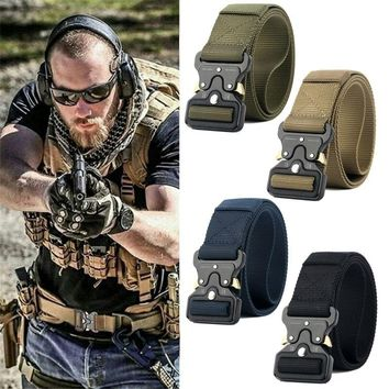 Military Men Outdoor Hiking Sports Waistband Cool Army Nylon Buckle Belt Healthy