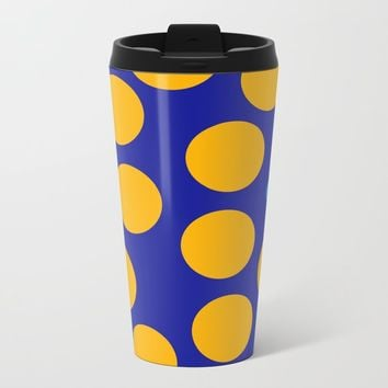 yellow dots Travel Mug by netzauge