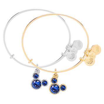Mickey Mouse Birthstone Bangle by Alex and Ani - September | Disney Store