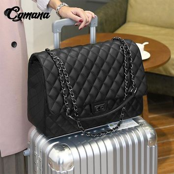 CGmana Large Capacity Bag Shoulder Bag Women Travel Bags Leather Pu Quilted Bag Female Luxury