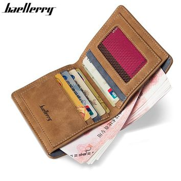 Baellerry High Quality Soft Leather wallet men vintage style men wallets leather purse male credit card holder money bag