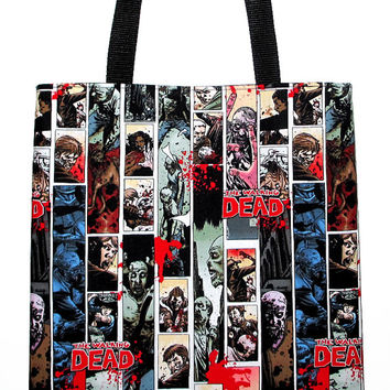 The Walking Dead Zombies Carryall Tote Book Bag - Choose Size