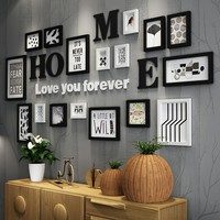 17pcs Solid Wood Large Picture Frames Modern Living Room/Store Photo Frame Set Big Size Wooden Letter Home Wall Decoration DIY