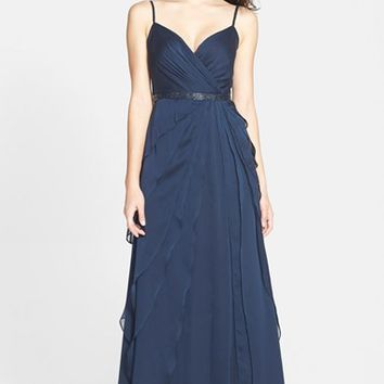 Women's Adrianna Papell Tiered Chiffon Gown,